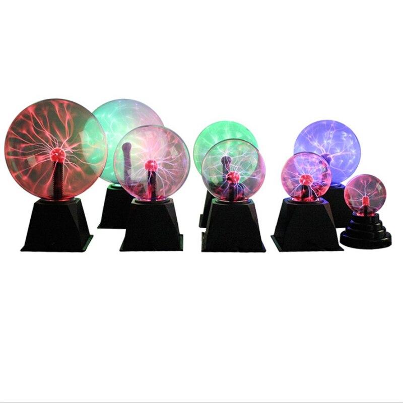 Novelty Glass Magic Plasma Ball Light 3/4/5/6/8 Inch Table Lights Sphere Nightlight Kids Gift For Magic Plasma Night Lamp Gifts