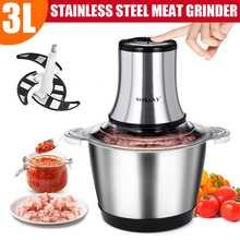 Acier inoxydable de mélangeur de hachoir à viande électrique de 3L 800W pour la cuisine 2 vitesses