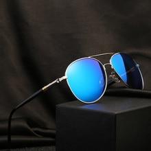 Lunettes de soleil polarisées pour homme et femme, verres solaires polarisés, style pilote, Vintage, de marque, de styliste, UV400