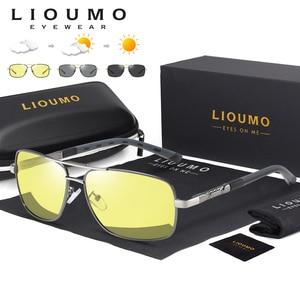 Image 1 - Kwadratowe okulary mężczyźni spolaryzowane fotochromowe dzień bezpieczeństwo w nocy jazdy okulary kobiety HD kwadratowe okulary gafas de sol hombre