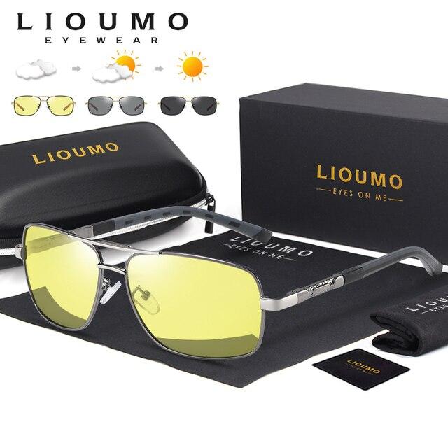 Square Sunglasses Men Polarized Photochromic Day Night Safety Driving Sun Glasses Women HD Square Eyewear gafas de sol hombre