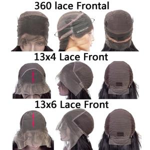Image 4 - 360 תחרה פרונטאלית פאה מראש קטף 8 26 Inch 150% רמי ברזילאי קינקי מתולתל 13x4 תחרה מול שיער טבעי פאות 4x4 סגירת פאה
