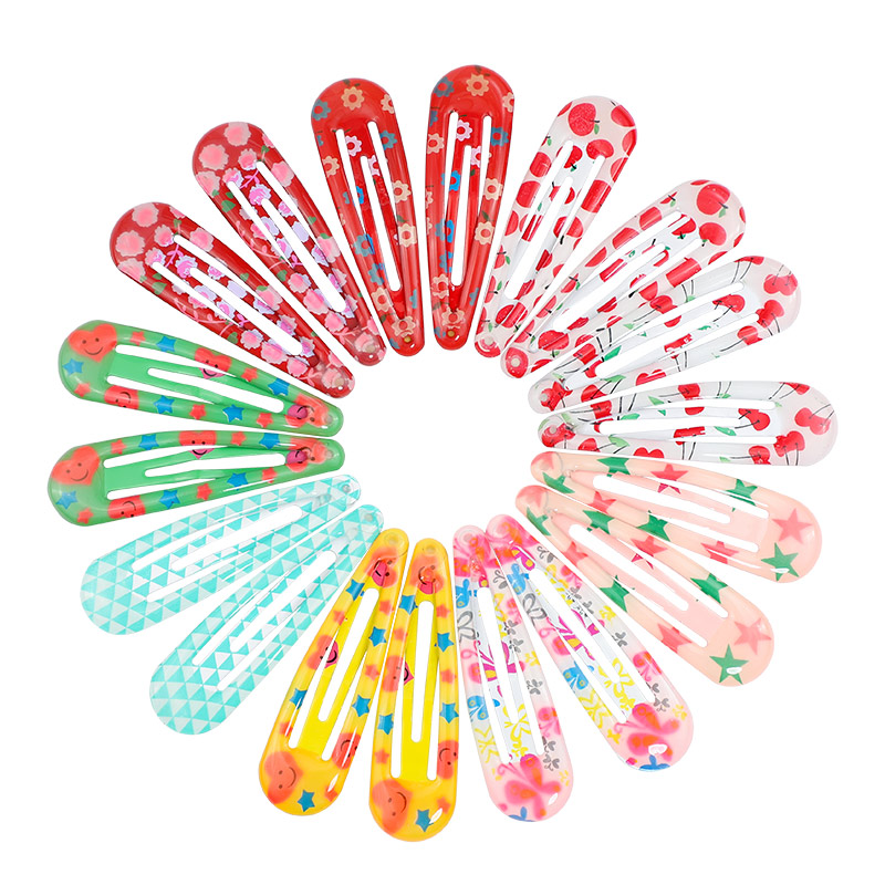 18/20/30pcs Color Children Hair Clip For Women Girls Hair Accessories Flower Butterfly Print Kids Hairpins Hair Pin Barrette 5cm