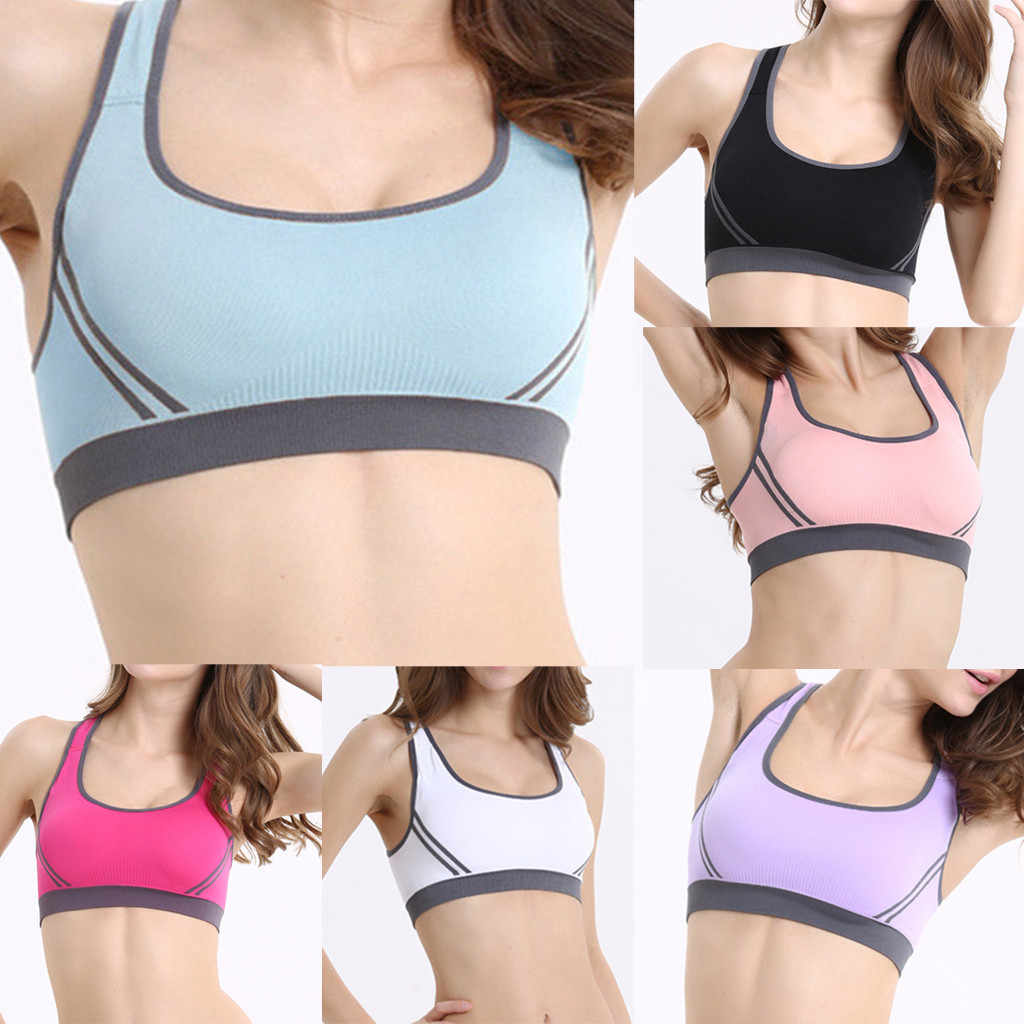 KANCOOLD Cross Strap Back Women Sports Bra Professional Quick Dry Padded Shockproof Gym Fitness Yoga Gathering Brassiere Tops