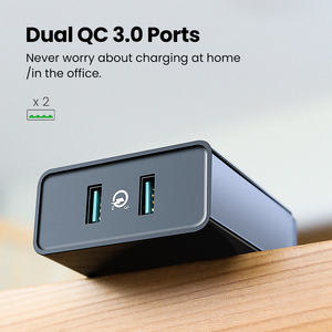 Image 2 - Ugreen Quick Charge 3.0 36W Qc Usb Wall Charger Voor Samsung Xiaomi Iphone X QC3.0 Opladen Eu Adapter Snelle mobiele Telefoon Oplader