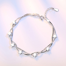 925 Sterling Silver Bracelet For Women Star Box Design Chain Bracelet Korea Fashion Jewelry Gift New 2020