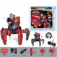 MoFun 2.4G Space Warrior Radio Controlled Robot 6 Leged Robot with Discs and Laser Sight