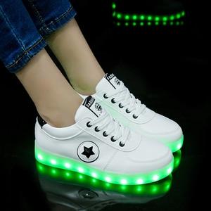 Image 5 - Baskets lumineux avec lumière lumineuse pour enfants, chaussures de sport 36, tailles 27 40 à la mode, pour garçons et filles, LED