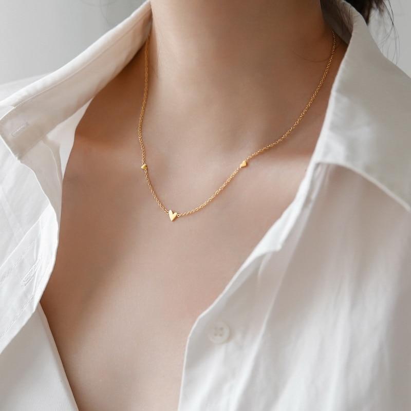 YUN RUO 3 мини кулон в форме сердца ожерелье Чокер Модные сексуальные ювелирные изделия из титановой нержавеющей стали женские аксессуары позо...