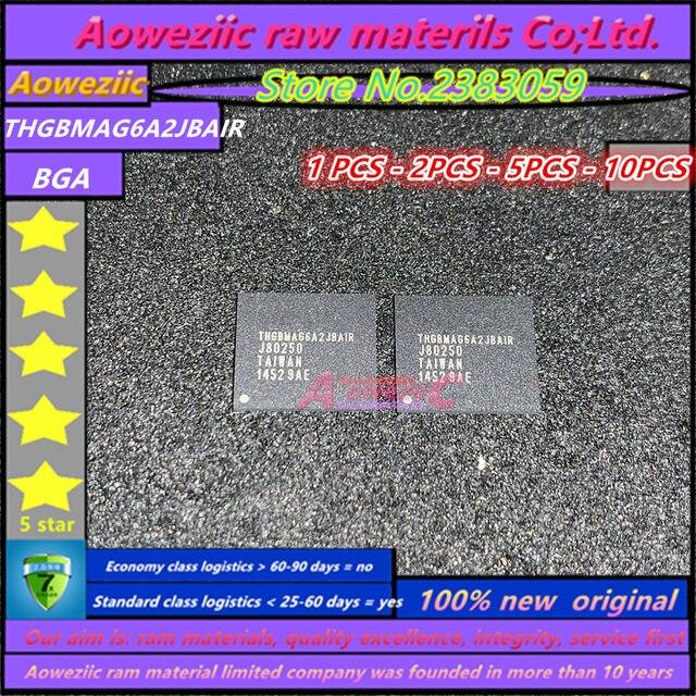 Aoweziic 100% nouvelle puce mémoire originale THGBMAG6A2JBAIR BGA