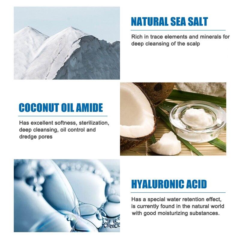 Sea Salt Anti-Dandruff Shampoo Cream Relieve Itching Control Oil Hair Shampoos Hair Care @ME88