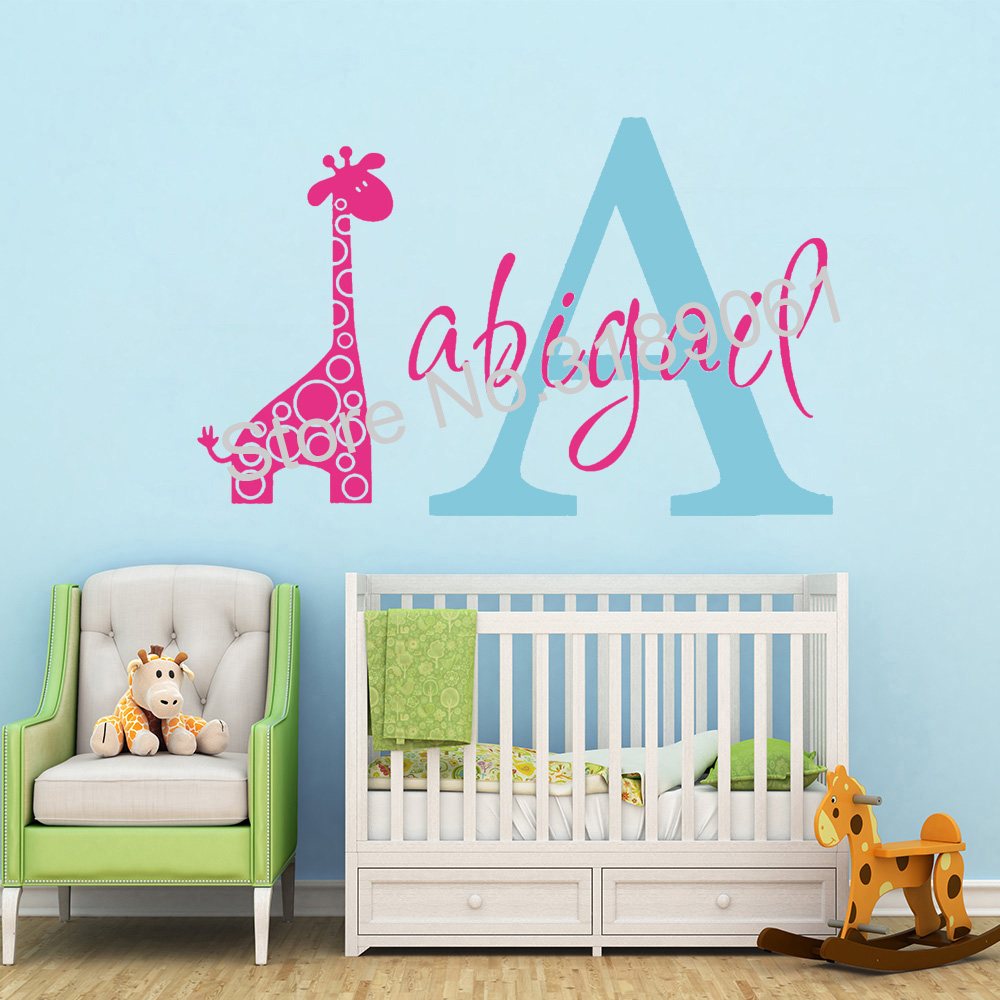 Personalised Name Wall Sticker Custom Initial Decal Bedroom Girls DREAMCATCHER