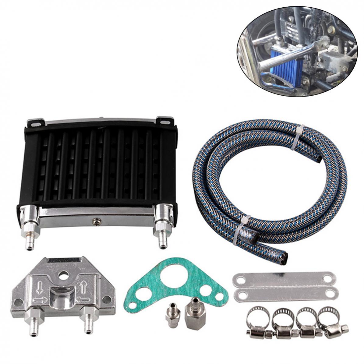PIT Bike /& Motorcycle CNC Engine Oil Cooling//Radiator Kit Prolong Engine Life