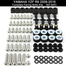 Motorcycle Complete Full Fairing Bolts Kit Screws Nuts For Yamaha YZFR6 YZF-R6 2008 2009 2010 2011 2012 2013 2014 2015 2016(China)
