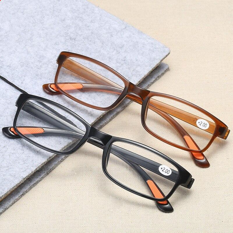 Fashion Plastic Reading Glasses Men Women Presbyopic Antifatigue Reading Eyeglasses Prescription +1.0 +2.0 +3.0 +4.0