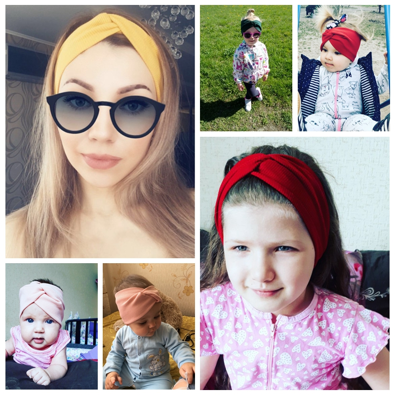 EE BABY HOT Women Headband Cross Top Knot Elastic Hair Bands Soft Solid Girls Hairband Hair Accessories Twisted Knotted Headwrap 5