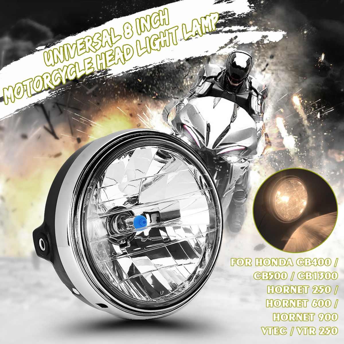 12V 35W 8 Inch Universals Motorcycle Headlight For Hon Da Cb400 Cb500 Cb1300 Hor Net 250 600 900 Vtec Vtr250 Running Light