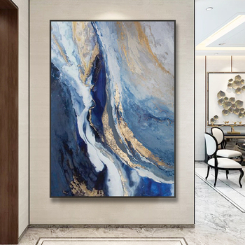 Hand-painted Custom Oil Painting Clouds Mood Sharply Entrance Hallway Living Room Decorative Painting Abstract wall art canvas