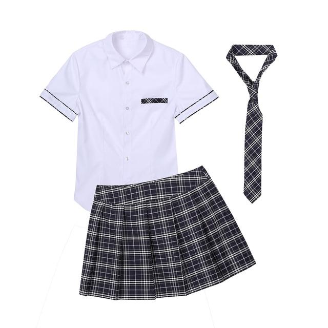 Sexy Adult Costume School Girl Cosplay Uniform #C1525 4