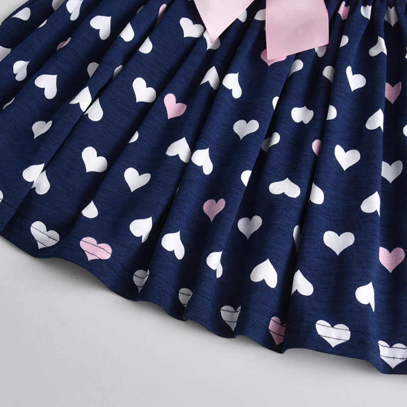 Хлопковое детское платье VIKITA, платье для девочки, детская одежда с длинным рукавом, платье составного кроя, платье с персонажами мультфильмов