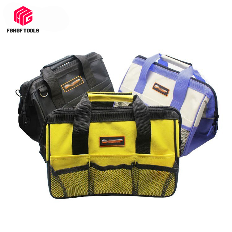 FGHGF Nylon Waterproof Canvas Tool Bag NO Belt Organizer Portable Double Oxford Colth Storage Bags Close Top Wide Mouth Toolkit