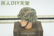 1/6 Scale Dragon WWII Light Camouflage Helmet German Cap Cover Model Collectible realts dragon model kit 6394 pz kpfw iii ausf j 1 35 scale