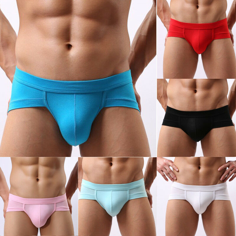New Fashion Mens Sexy Solid Color Seamless FashionLow Waist Briefs Short Boxers Pants Thongs Underpant Breathable Shorts