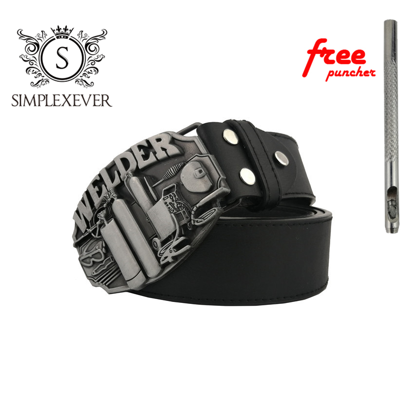 Tool Welder Belt Buckle Brand Western Belt Buckle With Pewter Finish For Mens Jeans Suitable For 4cm Width Belt Drop Shipping