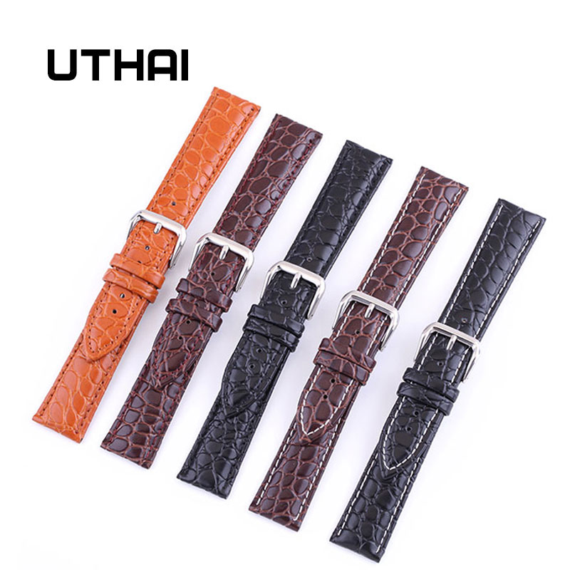 UTHAI P02 20mm Watch Strap Genuine 22mm Watch Band 12-24mm Watch Accessories High Quality 18mm Leather Watch Strap Watchbands