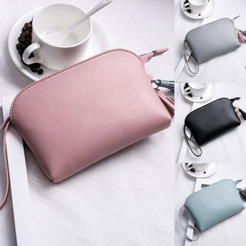 Multifunction Purse Makeup Cosmetic Bag Toiletry Case Pouch Travel Portable Bag Tassel Solid Color Makeup Bag Hot