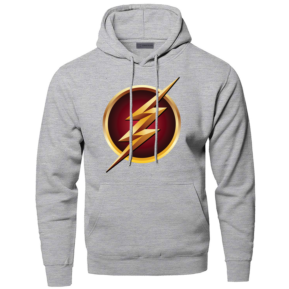 Superhero The Flash Hoodies Men Barry Allen Sweatshirts STAR Hooded Sweatshirt Hoodie 2019 Winter Autumn Super Hero Sportswear