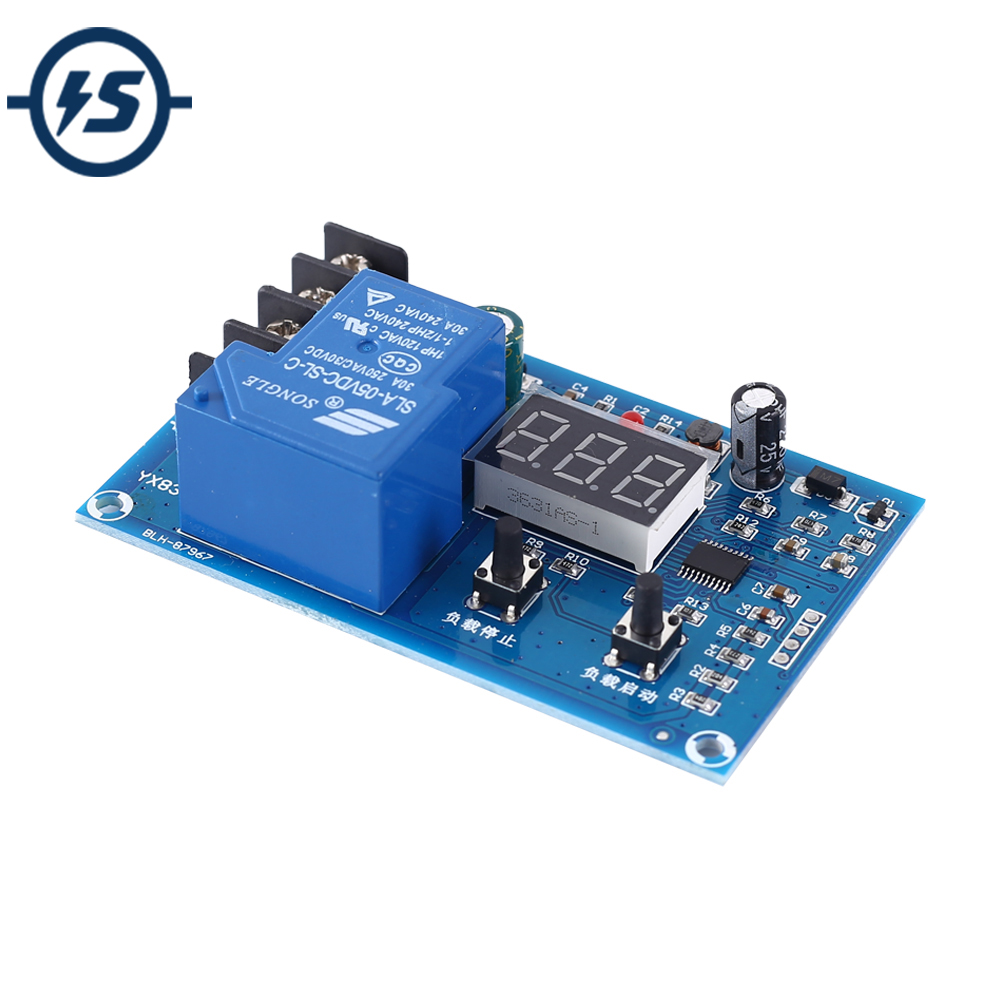 Over-discharge Protection Dispaly Module 30A Battery Protecter Upper Low Voltage Protection Board 12V 24V 48V 36V 48V Battery