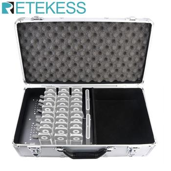 RETEKESS TT001 Charge Case Storage Box 32 Slot Aluminum Alloy For T130 Transmitter and T131 Receiver Wireless Tour Guide System