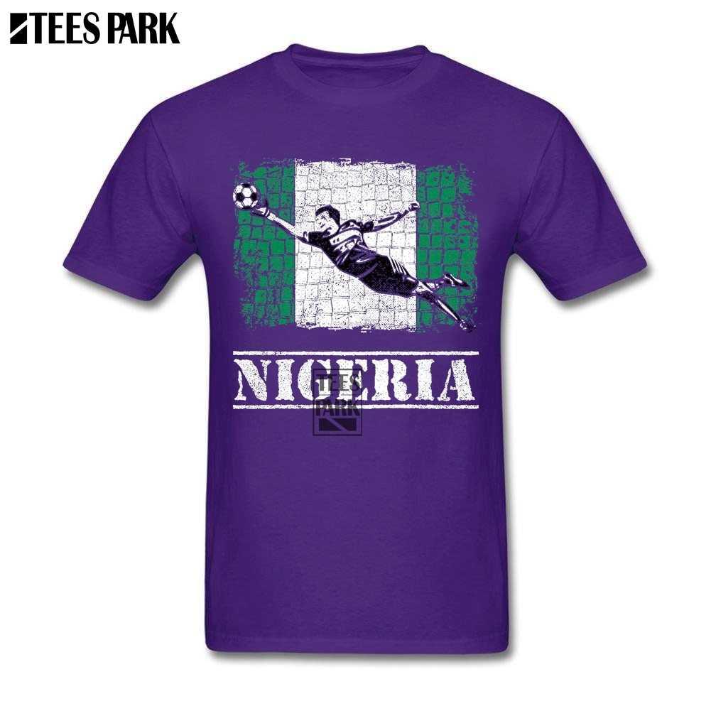 Di grandi Dimensioni T-Shirt Nigeria Bandiera Calcio Attrezzature varie Calciatore Carino T Camicette degli uomini Slim Fit Manica Corta Camicette Uomini Caldi di Vendita della Novità Fresco
