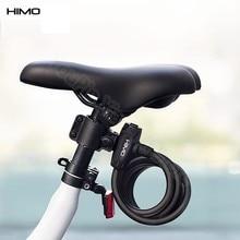 Xiaomi himo portátil bloqueio de aço dobrável anti roubo longo 150cm cabo flexível de aço com 2 chaves de bloqueio seguro e forte para bicicleta