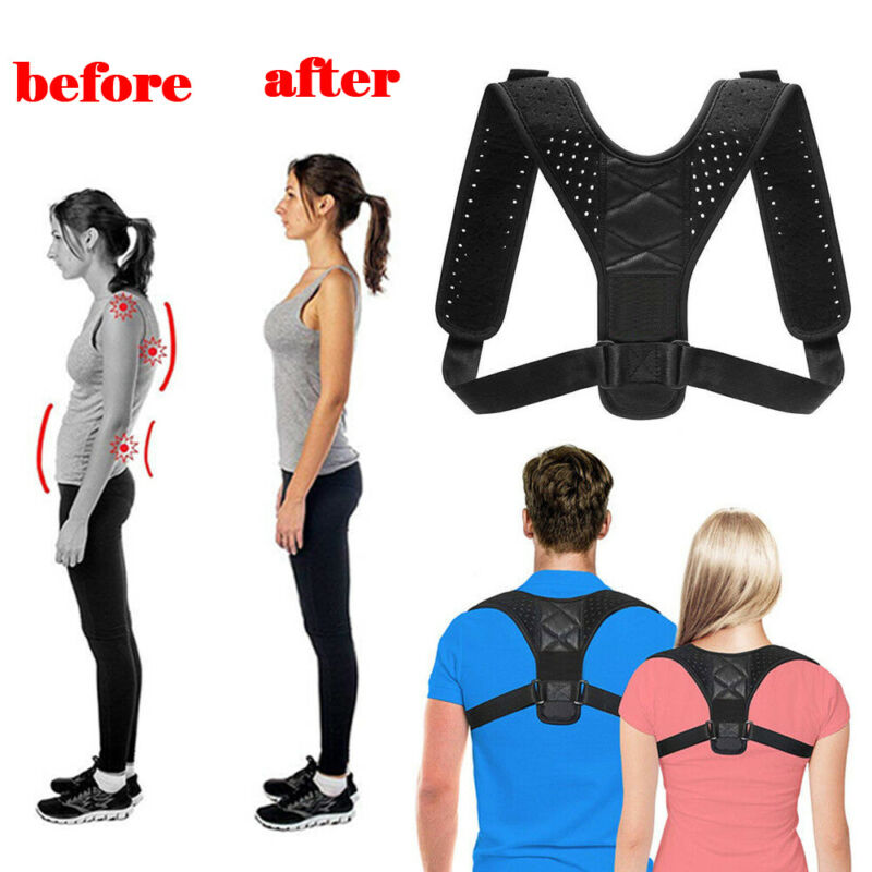 Adult Kid Back Posture Correction Shoulder Corrector Support Brace Belt Therapy Men Women Back Corrector Shoulder Support Lumbar