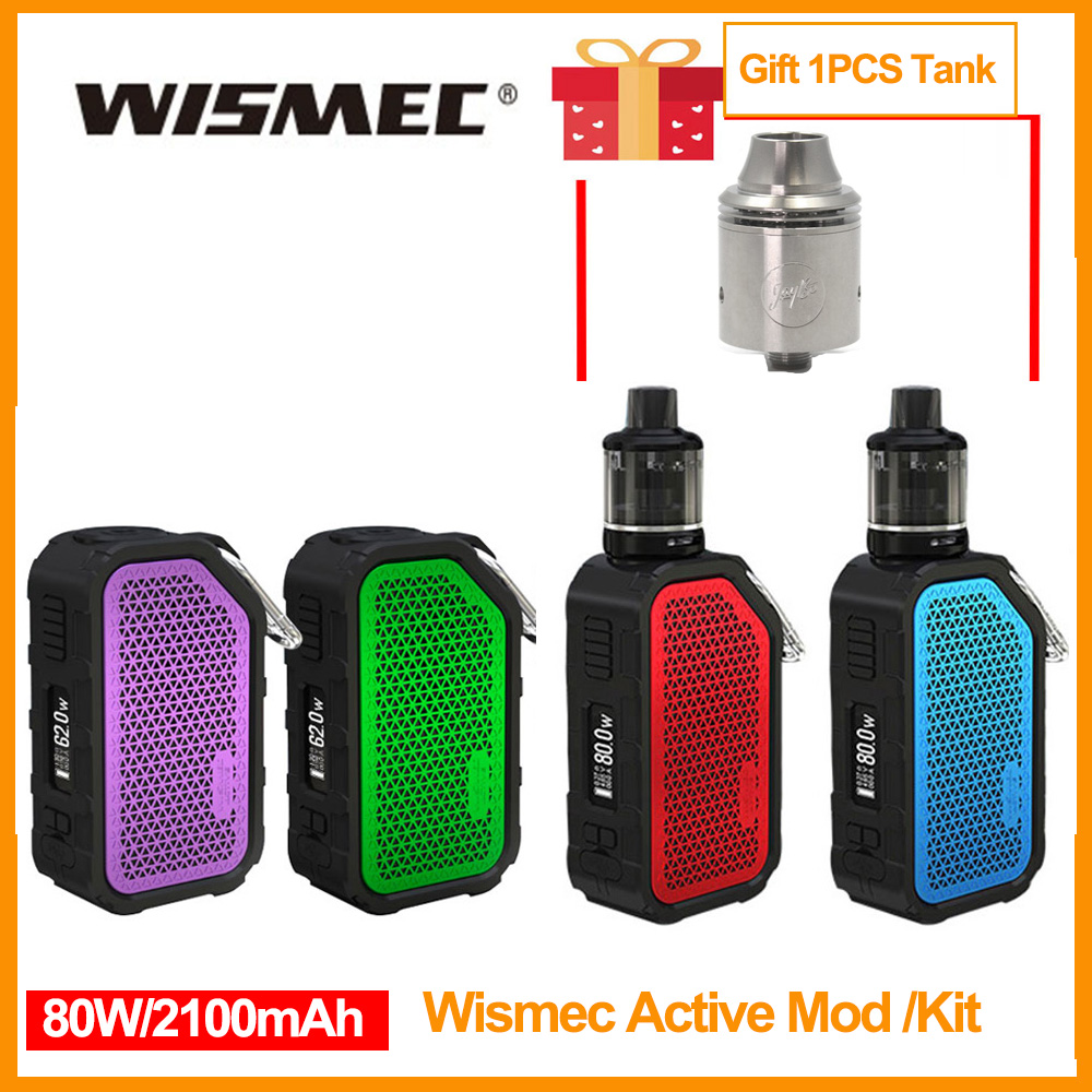 Gift Wismec Tank Original Wismec Active Mod Built in 2100mAh Battery 80W Output Box Mod with Bluetooth Music Waterproof E-Cig
