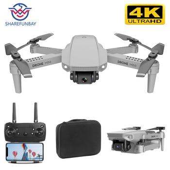 цена на SHAREFUNBAY E88 drone 4k HD wide-angle camera drone WiFi 1080p real-time transmission FPV drone follow me rc Quadcopter
