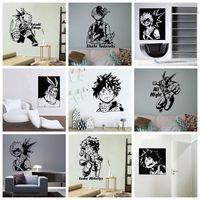 Calcomanías de Pvc de My Hero Academia para pared, decoración del hogar para habitación de niños, sala de estar, decoración de pared, MURAL artístico, envío directo