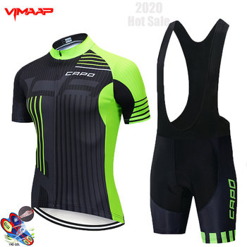 NEW 2020 CAPO Team Cycling Jersey Sets MTB Bicycle Bike Breathable shorts Clothing Suit 19D GEL Maillot ropa