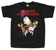 O gato onine nine caudas il gatto um código nove v1 camiseta (preto) todos os tamanhos S-5XL