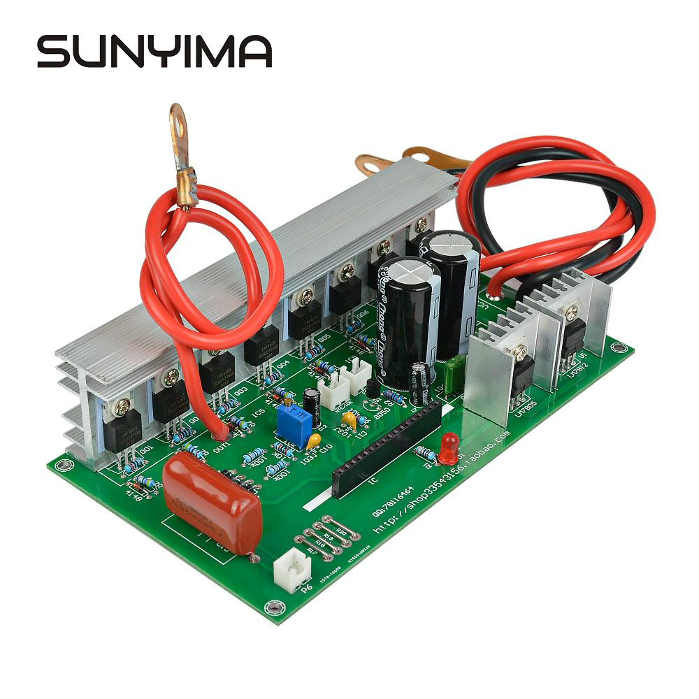 SUNYIMA 1000W 12V 24V  To AC220V Pure Sine Wave Power Frequency Inverter Board Pure Sine Wave Booster Module-in Inverters & Converters from Home Improvement    1