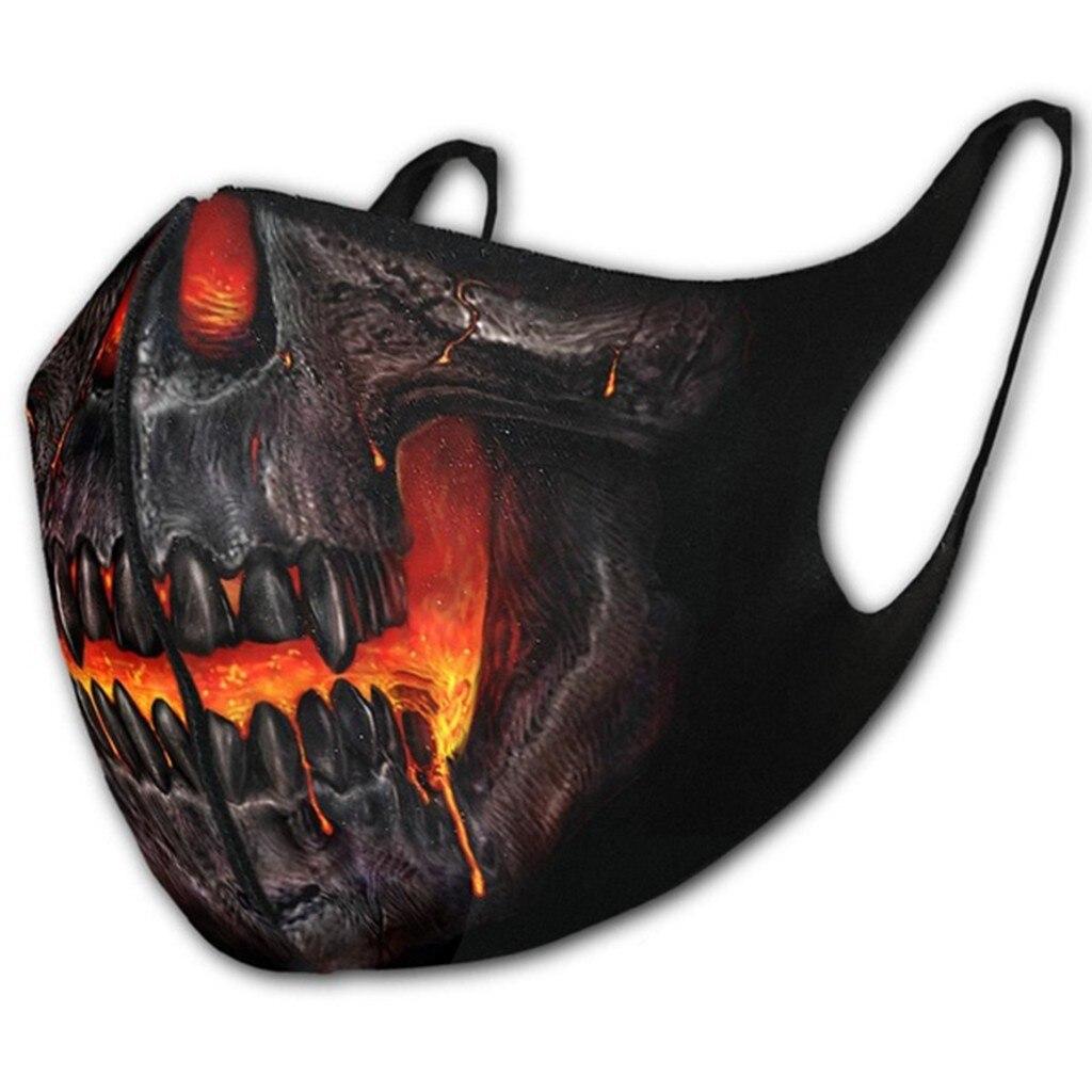 3 шт. взрослых Рот маска Регулируемая кровянистая Роза 3D печать готический панк черный хлопок открытый рот маска Моющиеся Многоразовые Z0806|Женские маски|   | АлиЭкспресс