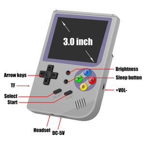 Image 4 - RG300 3 inch Video games Draagbare Retro console Retro Game Handheld Games Console Speler 16G + 32G 3000 GAMES Tony systeem