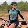 Xama ciclismo manga longa trisuit skinsuit feminino manga curta bicicleta wear macacão conjunto de roupas roadbike ciclo 9