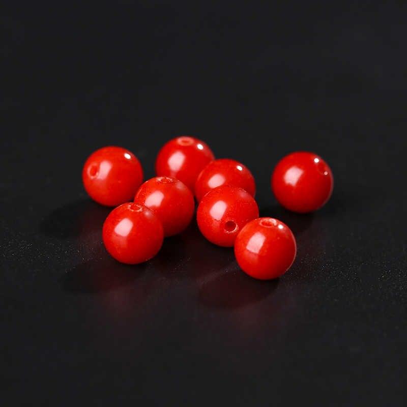 Ronde Rode Koraal Kralen 10 Pcs Pick Size 4/6/8/10/12 Mm Natuurlijke Kralen accessoires Voor Diy Sieraden Makings Ketting Armband 18172