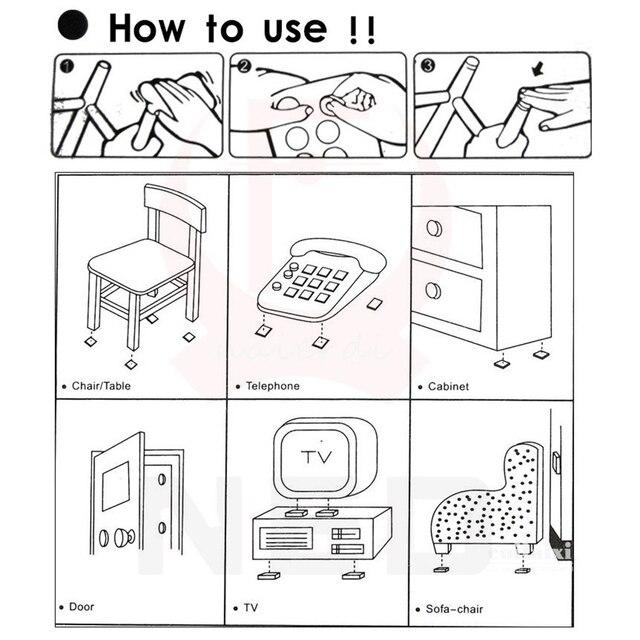 1-24PCS Thickening Self Adhesive Furniture Leg Feet Rug Felt Pads Anti Slip Mat Bumper Damper For Chair Table Protector Hardware 6