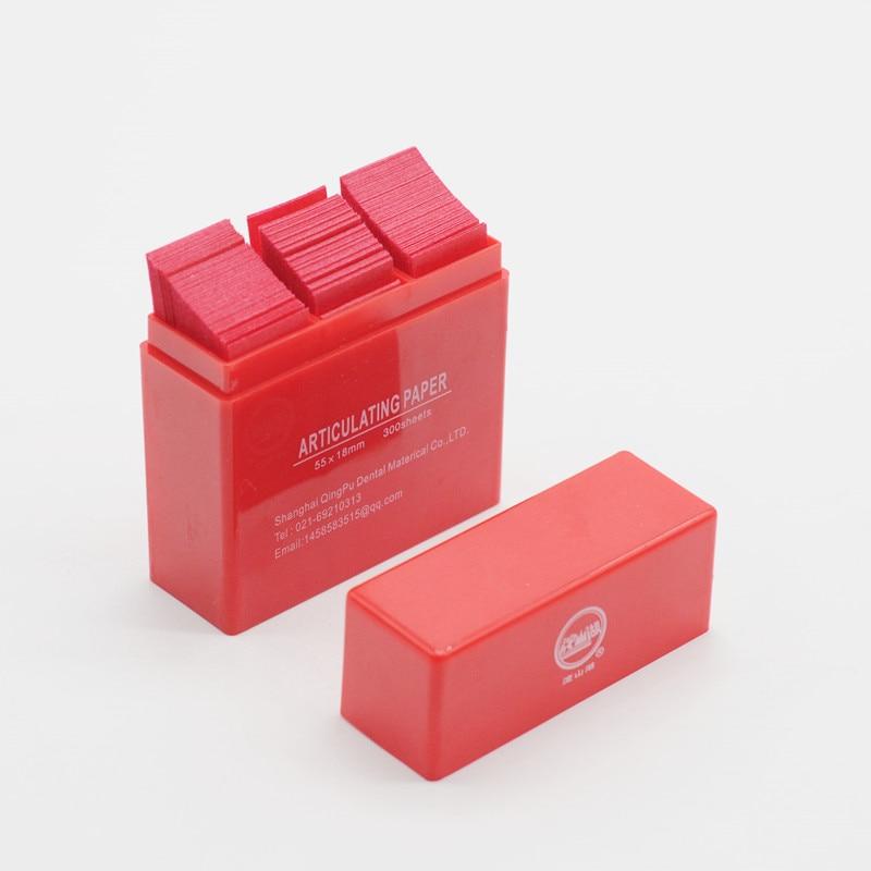 55*18 мм артикуляционные бумажные полоски 300 лист/коробка для стоматологических продуктов лаборатории - Цвет: 1pcs red