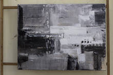 Black and white abstraction Large Wall Art Contemporary oil Painting Original artwork Abstract Canvas paintings