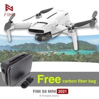FIMI-Mini Dron X8 con cámara 2021, cuadricóptero RC, 8KM, FPV, cardán de 3 ejes, 4K, GPS, RC, RTF